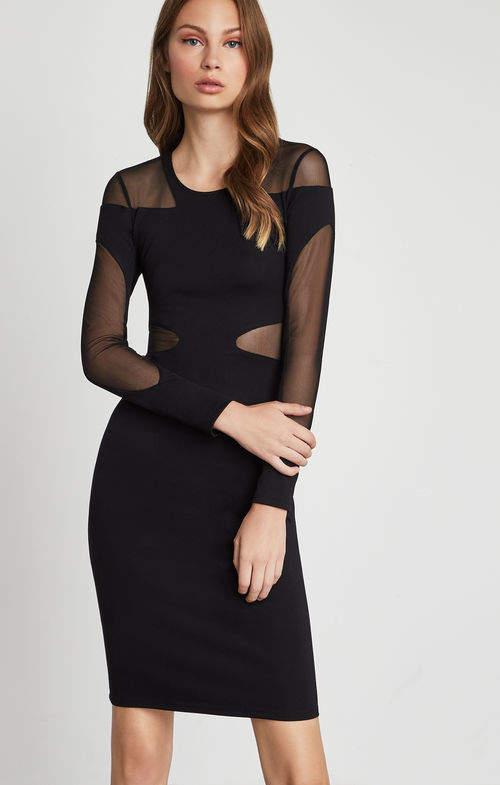 b6e7f911 BCBGMAXAZRIA Black Mesh Dresses - ShopStyle
