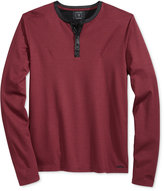 GUESS Men's Mason Jacquard Henley Shirt
