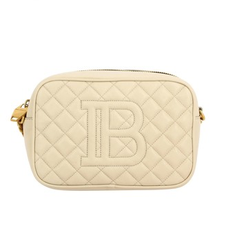 Balmain Mini Bag Camera Bag In Quilted Leather
