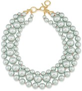 "Carolee Triple Strand Collar Necklace, 18"""