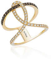 LeVian 14K Honey Gold Neo Geo Ring with Chocolate Diamonds and Vanilla Diamonds
