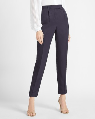 Express High Waisted Tab Button Ankle Pant