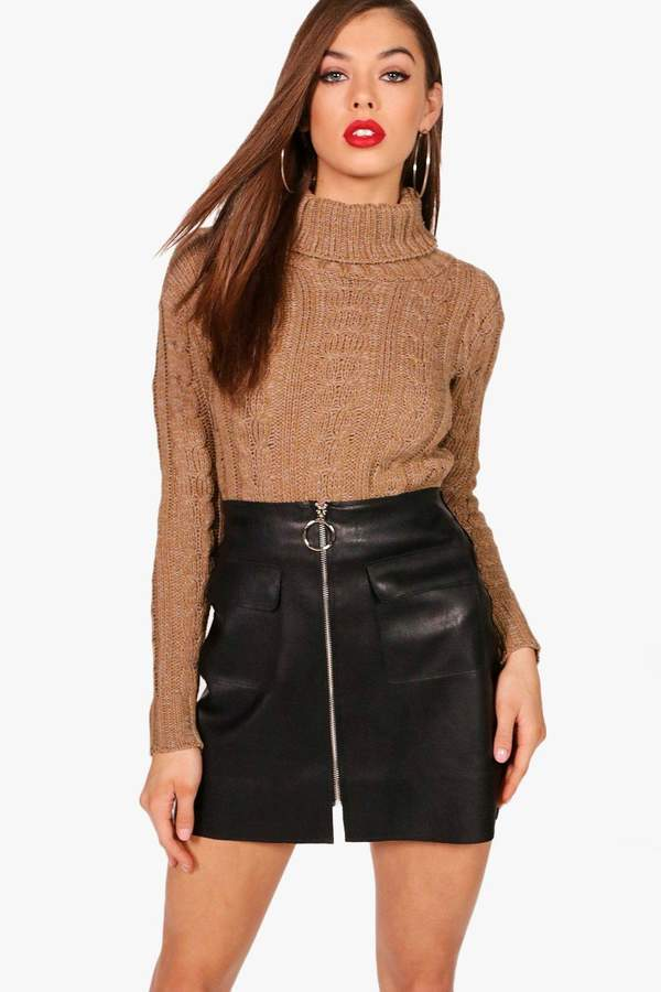 86c3e7d9f382 Camel Cropped Sweater - ShopStyle