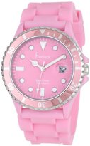 Freelook Women's HA1433-5 Sea Diver Jelly Pink Silicone Band with Pink Dial Watch