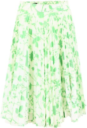 Calvin Klein Printed Pleated Skirt