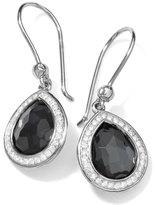 Ippolita Stella Teardrop Earrings in Hematite & Diamonds, 28mm