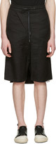 D.gnak By Kang.d Black Crinkled Back Panel Shorts