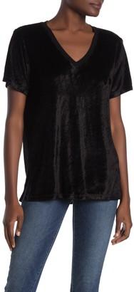 Michael Stars Slouchy Velvet V-Neck T-Shirt