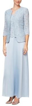 Alex Evenings Petite Lace Dress and Jacket