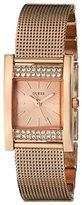 GUESS Women's U0127L3 Timeless Shine Crystal Mesh Rose Gold-Tone Watch
