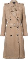 Alexander Wang long trench coat - women - Viscose - XS