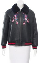 Jocelyn Embroidered Shearling Jacket