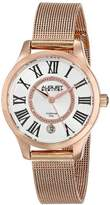 August Steiner Women's AS8094RG Diamond Rose-Tone Stainless Steel Watch With Mesh Bracelet