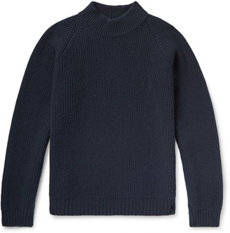 Visvim Mock-Neck Ribbed Wool Sweater