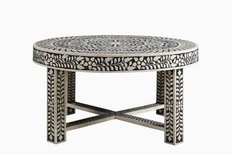 Bijan Bone Inlay Coffee Table Black