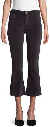 Frame Le Crop Velvet Bootcut Pants