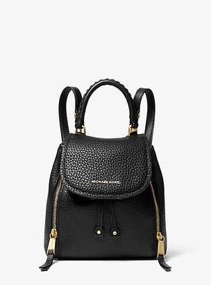 MICHAEL Michael Kors MK Viv Extra-Small Pebbled Leather Backpack - Black - Michael Kors