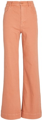 Ulla Johnson Theo Flared Wide-Leg Jeans