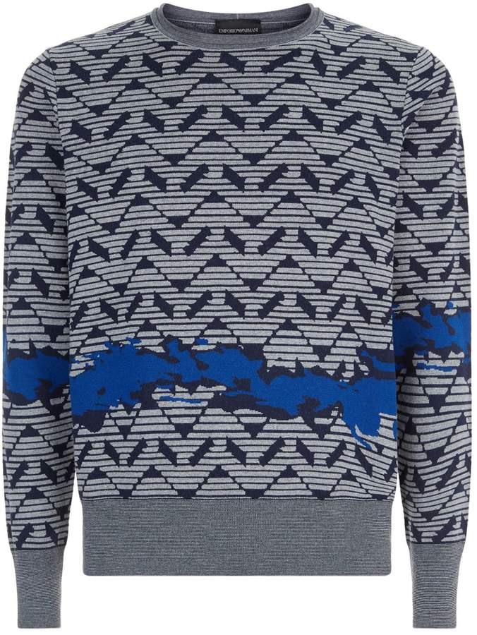 Emporio Armani Logo Print Sweater