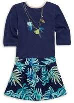 Catimini Little Girl's & Girl's Palm Tassle Dress