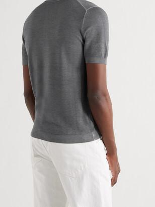 Valstar Wool And Silk-Blend Polo Shirt