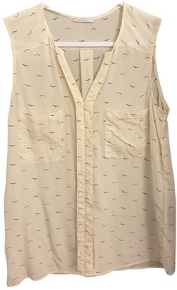 Ikks Beige Silk Top for Women