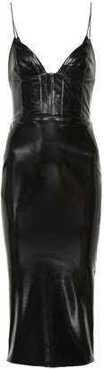 Alex Perry Hunter faux leather dress