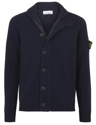 Stone Island Patch logo cardigan