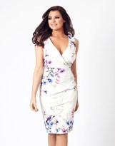Jessica Wright Pleated Floral Midi Dress