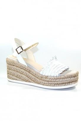 Kanna Mabel Ankle Strap Sandal In White - 36