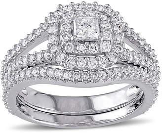 MODERN BRIDE 1 1/5 CT. T.W. Diamond 14K White Gold Ring Set