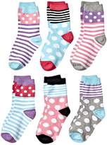 Jefferies Socks Dots and Stripes Crew 6-Pack Girls Shoes
