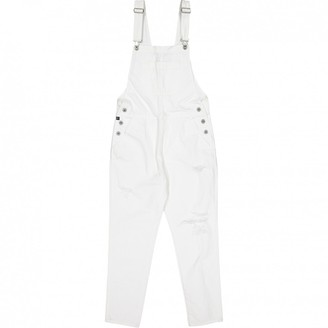 AG Adriano Goldschmied White Cotton Jumpsuits