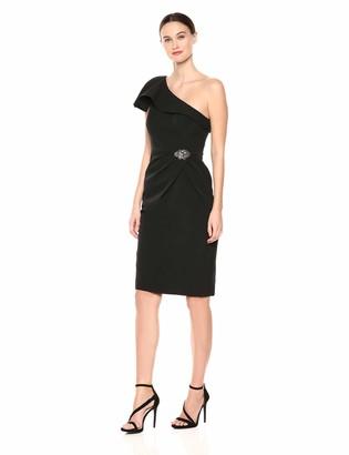 Alex Evenings Women's Slimming Short Sheath Dress
