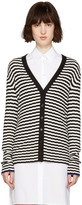 Proenza Schouler Black and White Striped Cardigan