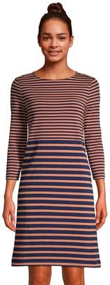 Lands' End Women's 3/4 Sleeve T-Shirt Dress