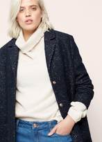 Violeta BY MANGO Flecked Wool-Blend Coat