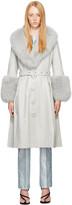 Thumbnail for your product : Saks Potts Grey Fur Foxy Coat