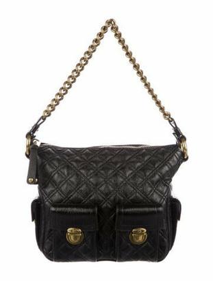 Marc Jacobs Quilted Leather Shoulder Bag Black