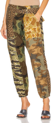 R 13 Crossover Utility Drop Pant in Multi Camo | FWRD