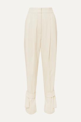 Petar Petrov Tie-detailed Wool Pants - Ivory