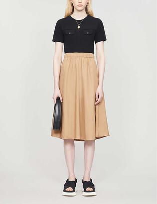Claudie Pierlot Track stretch-cotton midi dress