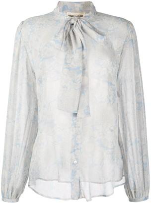 Semi-Couture Paisley Floral Print Blouse