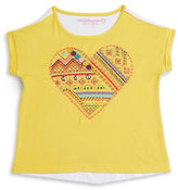 Design History Girls 2-6x Heart Embroidered Tee