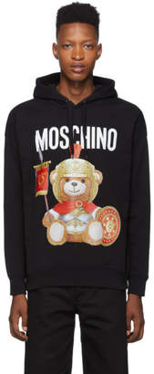 Moschino Black Roman Teddy Bear Hoodie