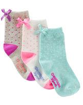 Osh Kosh 3-Pack Bow Crew Socks