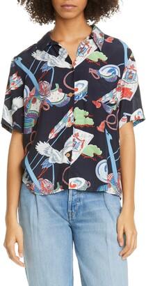 RE/DONE '50s Tsuru Print Shirt