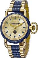 Roberto Cavalli Women's RV1L017M0136 Gold IP Stainless Steel Two Tone Watch