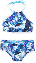 Kanu Surf Blue Abstract Okana Halter Bikini - Toddler & Girls