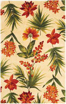 "Kas Catalina 780 Ivory Tropical Flora 3'3"" x 5'3"" Area Rug"